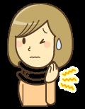 むち打ちの痛みに悩む女性のイラスト