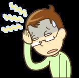 頭痛で辛い男性のイラスト