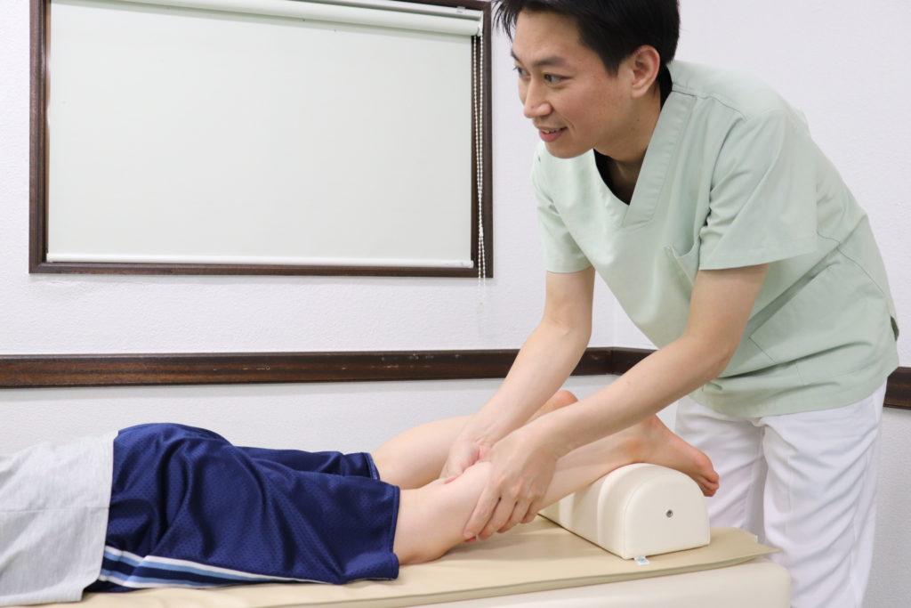 シンスプリントに対する手技療法のイメージ